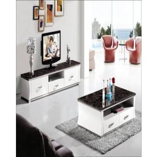 Sala de estar: increíble mesa de centro a juego y soporte de TV ...