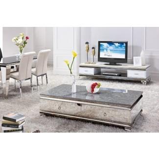 Mesas de café y soportes de TV brillantes -