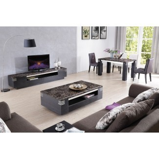 Sala de estar: increíble mesa de café y soporte de televisión a juego ...