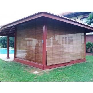 Sombras: increíble sombra de bambú para exteriores Persianas enrollables de bambú ...