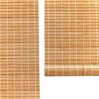 Persianas enrollables con filtro de luz de bambú natural, cortinas enrollables con cortina solar 90%, persianas de privacidad, personalizables