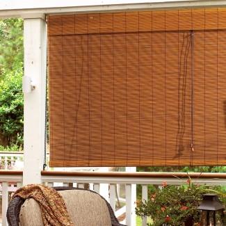 Bay Isle Home Persianas enrollables exteriores de bambú Y reseñas |