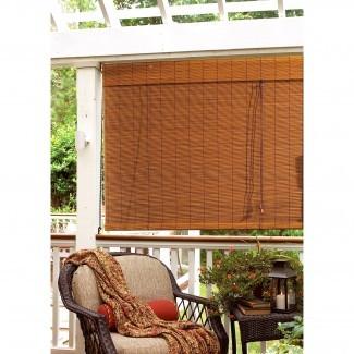 Bay Isle Home Outdoor Persianas enrollables de bambú y comentarios |