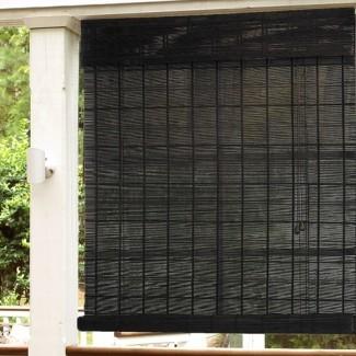 Persianas enrollables de bambú para exteriores Wayfair