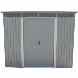 Cobertizo de almacenamiento de metal de 8.5 pies de ancho x 6 pies de profundidad