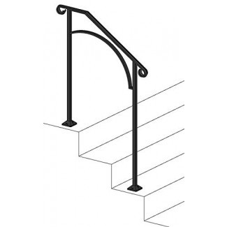Iron X Handrail Arch # 2