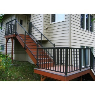 Barandilla de escalera superior e inferior de aluminio