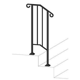 Iron X Handrail Picket # 1