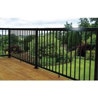 Panel de valla recta de aluminio de 3 pies de alto x 4 pies de ancho