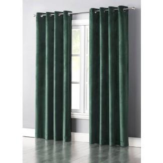 Panel de cortina simple con arandela filtrante de luz sólida Slattery