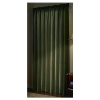 Dunnottar Solid Blackout Thermal Rod Pocket Panel de cortina individual