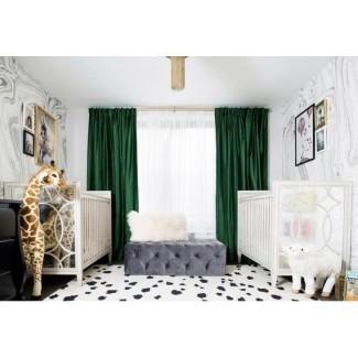Cortinas de terciopelo de lujo Terciopelo verde esmeralda Terciopelo verde ...