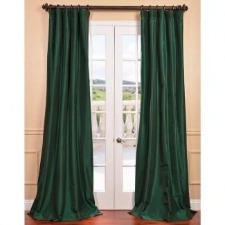 Cortinas de terciopelo verde esmeralda   Cortina