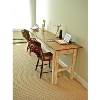 Mesa de comedor: mesa de comedor larga y delgada