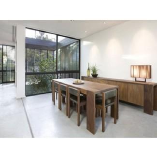 Comedor: mesa de comedor rectangular estrecha e inspiradora ...