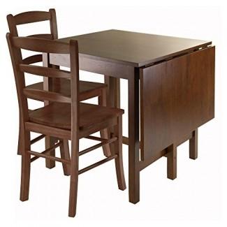 Winsome Lynden Mesa de comedor de 3 piezas con sillas con respaldo de 2 escaleras