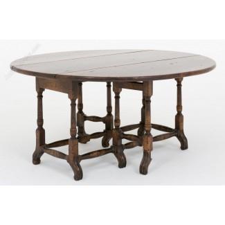 Mesa de centro con hojas abatibles de roble - Atlas de antigüedades