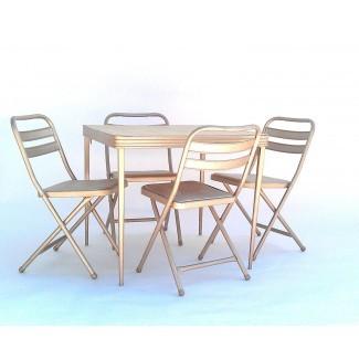 Mesa y sillas plegables vintage de Durham Manufacturing
