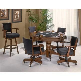 Mesa de cartas abatibles con sillas - Mesa de póquer tradicional