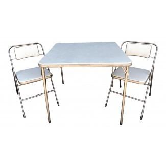 Mesa y sillas vintage de tarjeta Samsonite   Chairish
