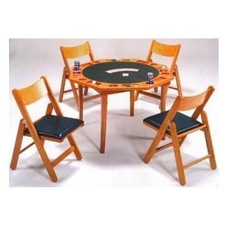 Juego de mesa con sillas de roble de 5 piezas con juego de sillas 6184 86