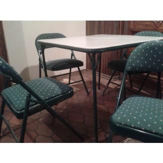 Mesa y sillas de cartas verdes Rider - Menos de la MITAD