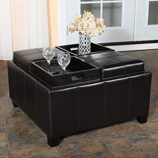 Muebles de gran calidad Harley Otomana de almacenamiento superior de bandeja de café expreso