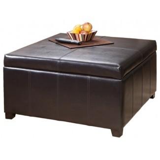 Mesa de centro con almacenamiento de madera Otomana PDF Planos