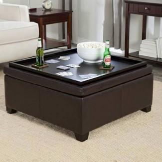Sala de estar: Otomana de almacenamiento con sala de estar atractiva con ...