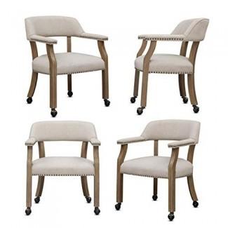 Juego de sillas de comedor o comedor Comfort Pointe Millstone - Juego de 4