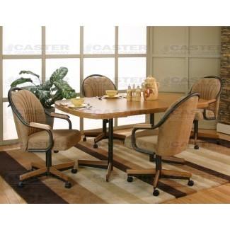 Caster Chair Company 5 Piece Caster Dining Set con giratorio ...