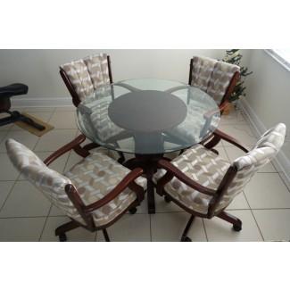 Comedor: elegantes juegos de comedor con sillas con ruedas ... [19659010]Comedor: juegos de comedor glamorosos con sillas giratorias ... </div> </p></div> <div class=