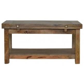 Mesa de centro plegable de madera de mango