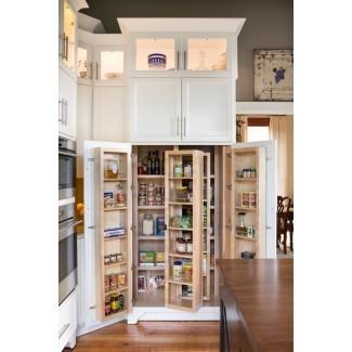 Gabinetes de despensa independientes estilo granja para cocina ...