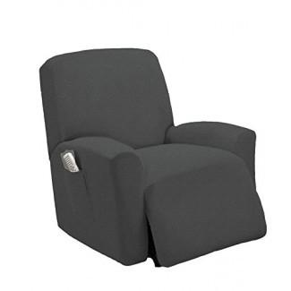 Queen Linens Funda elástica reclinable de una pieza, silla elástica de muebles reclinables Lazy Boy Cover Slipcover, Estella