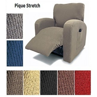Orly's Dream Pique Stretch Fit Furniture Silla reclinable Lazy Boy Cover Slipcover