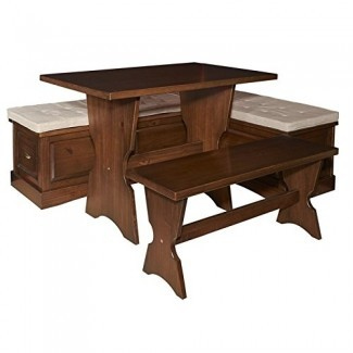 Riverbay Furniture Breakfast Nook Set en nogal