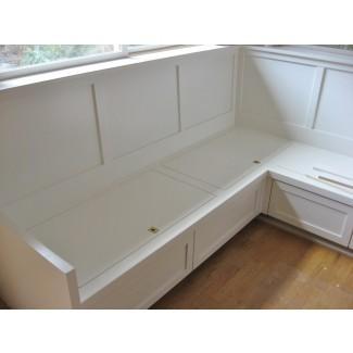 Muebles. Banco de desayunador pequeño con cajones de almacenamiento ...