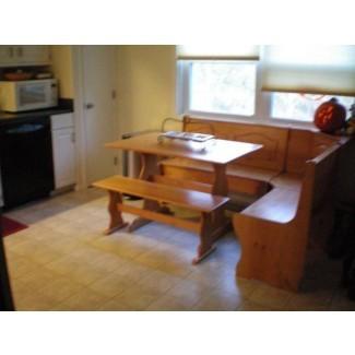Muebles. Banco de muebles de rincón de desayuno de madera blanca diy ...