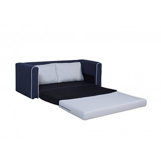 Divano Roma Furniture Modern 2 Tone Modular / Convertible Sleeper