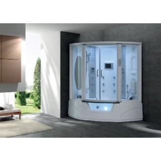 Disfrute de la ducha de vapor y la bañera con la bañera de vapor