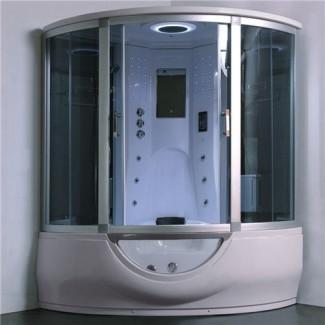 Combo de bañera de ducha de vapor de lujo con bañera de hidromasaje, hogar ...