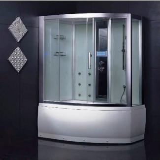 Wasauna SASSARI Unidad de combinación de bañera y ducha de vapor ...