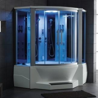 Eagle Bath ducha de vapor de 66 pulgadas con combinación de bañera de hidromasaje