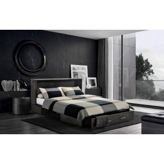 Hague Seaside Queen Storage Murphy Bed con colchón