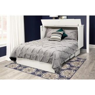 Catherine Queen Storage Murphy Bed con colchón