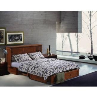 Planas Queen Storage Murphy Bed con colchón