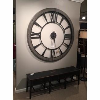 """Reloj de pared rústico redondo de 60 """"- Lexington, KY"""