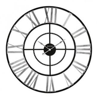 Bulova Zeeland Reloj de pared de 60 pulgadas en Negro / plata | Bed ...