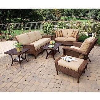 Sillas y sofás acolchados baratos para exteriores de Martha Stewart ...
